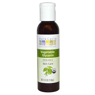 Aura Cacia, Organic, Skin Care, Vegetable Glycerin, 4 fl oz (118 ml)