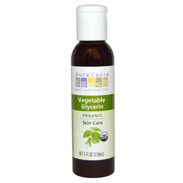 Aura Cacia, Organic, Skin Care, Vegetable Glycerin, 4 fl oz (118 ml)
