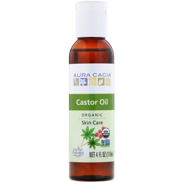 Castor Oil, Organic, Skin Care, 4 fl oz (118 ml)