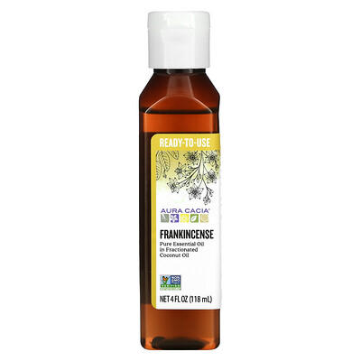 Aura Cacia Pure Essential Oil, Frankincense, 4 fl oz (118 ml)