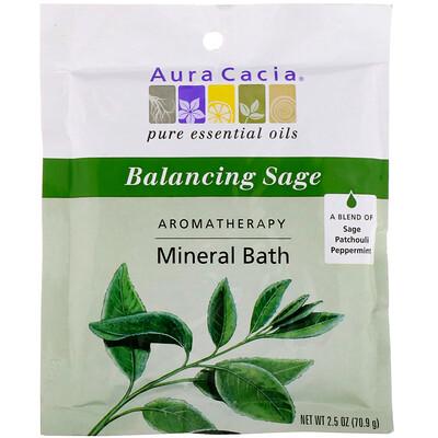 Фото - Ароматерапевтическое минеральное средство для ванны, гармонизирующий шалфей, 2,5 унции (70,9 г) organics сотрите день минеральное удаляющее чистящее средство 4 унции 113 г