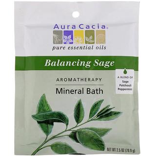 Aura Cacia, Aromatherapy Mineral Bath, Balancing Sage, 2.5 oz (70.9 g)