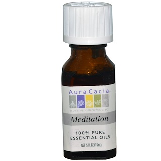 Aura Cacia, 100% Pure Essential Oils, Meditation, 0.5 fl oz (15 ml)