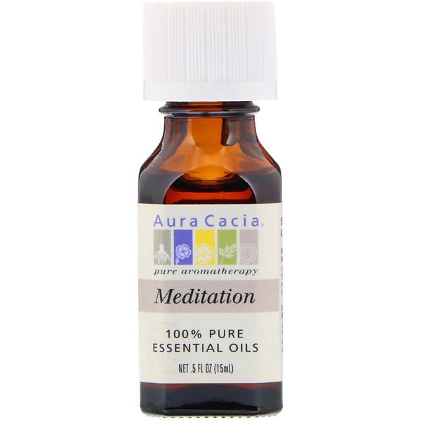 Aura Cacia, 100% Pure Essential Oils, Meditation, 0.5 fl oz (15 ml)