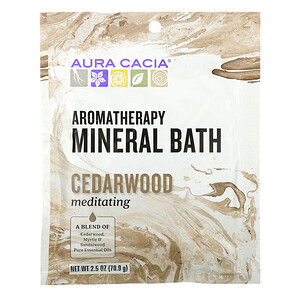 Аура Кация, Aromatherapy Mineral Bath, Meditating Cedarwood, 2.5 oz (70.9 g) отзывы покупателей
