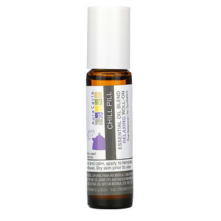 Aura Cacia, Essential Oil Blend, Relaxing Roll-On, Chill Pill, 0.31 fl oz (9.2 ml)