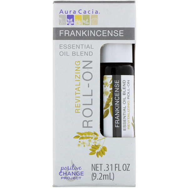 Essential Oil Blend, Revitalizing Roll-On, Frankincense, .31 fl oz (9.2 ml)