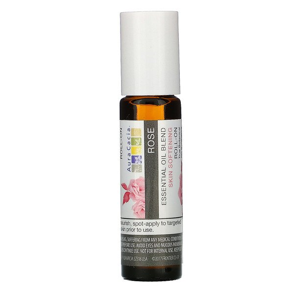 Aura Cacia, Essential Oil Blend, Skin Softening Roll-On, Rose, .31 fl oz (9.2 ml) (Discontinued Item)