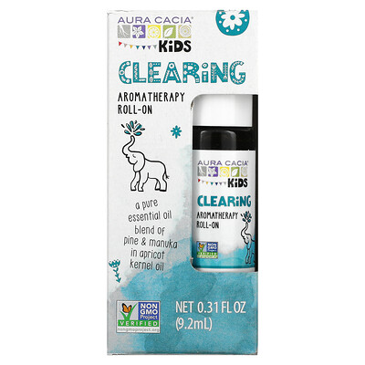 Aura Cacia Kids, Aromatherapy Roll-On, Clearing, 0.31 fl oz (9.2 ml)