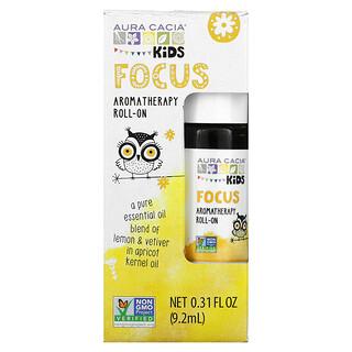 Aura Cacia, Kids, Aromatherapy Roll-On, Focus, 0.31 fl oz (9.2 ml)