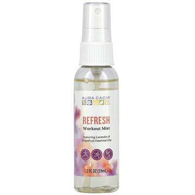 Aura Cacia Refresh, Workout Mist, 2 fl oz (59 ml)