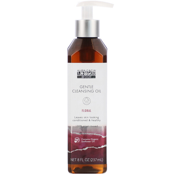 Gentle Cleansing Oil, Floral, 8 fl oz (237 ml)