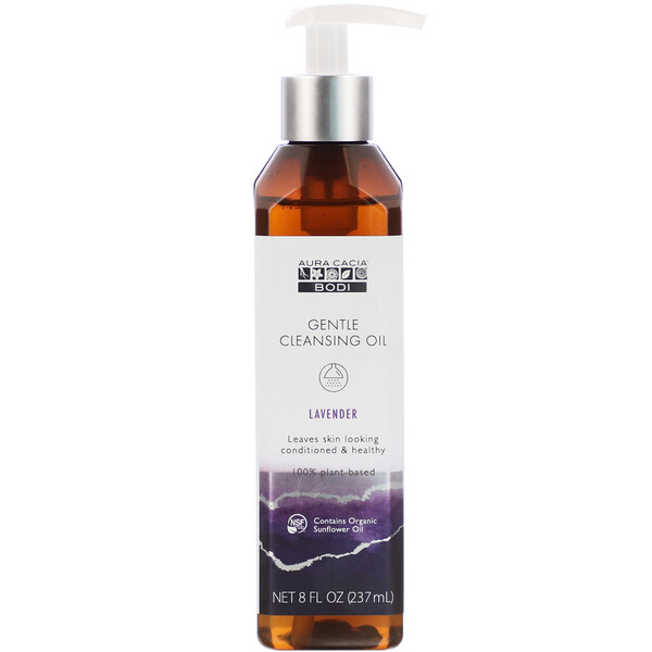 Aura Cacia, Gentle Cleansing Oil, Lavender, 8 fl oz (237 ml)