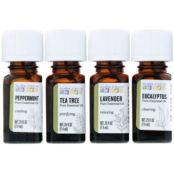Discover Essential Oils Kit, 4 Bottles, .25 fl oz (7.4 ml) Each