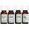 Aura Cacia, Discover Relaxation Kit, Essential Oils, 4 Bottles, 0.25 fl oz (7.4 ml ) Each