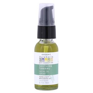 Аура Кация, Organic Soothing Tamanu Facial Oil Serum, Lavender & Tea Tree, 1 fl oz (30 ml) отзывы