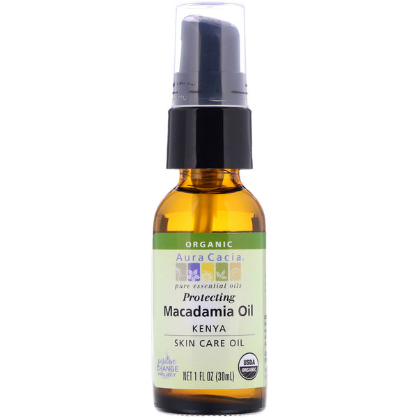 Pure Essential Oil, Organic Natural Skin Care, Macadamia Oil, 1 fl oz (30 ml)