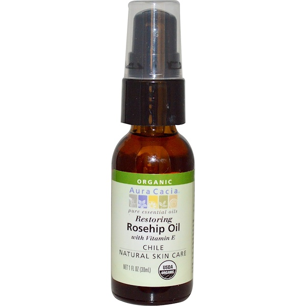 Aura Cacia, Organic, Rosehip Oil, Restoring, 1 fl oz (30 ml) (Discontinued Item)