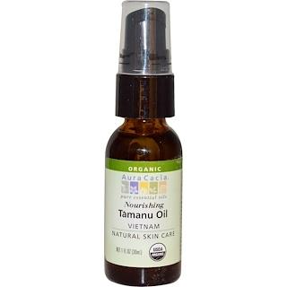 Aura Cacia, オーガニック, タマヌオイル, ノーリッシング, 1 液量オンス (30 ml)