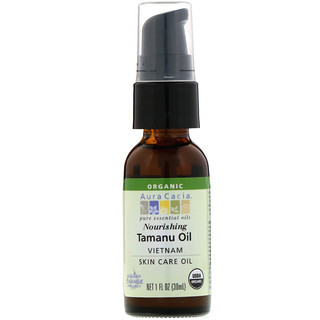 Aura Cacia, Organic Tamanu Oil, Nourishing, 1 fl oz (30 ml)