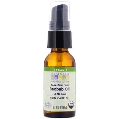 Aura Cacia Organic Baobab Oil, Skin Care Oil, 1 fl oz (30 ml)  - купить со скидкой