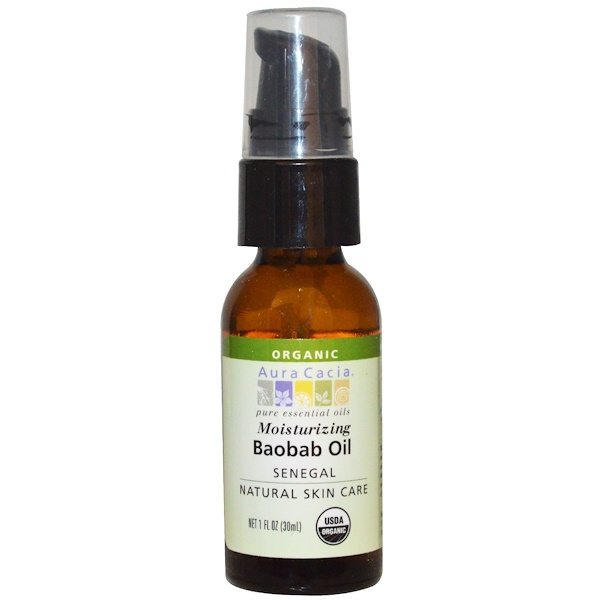Aura Cacia, Organic Baobab Oil, Natural Skin Care, 1 fl oz (30 ml)
