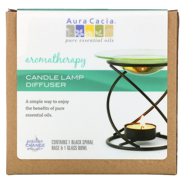 Aura Cacia, Aromatherapy Candle Lamp Diffuser, 2 Piece (Discontinued Item)