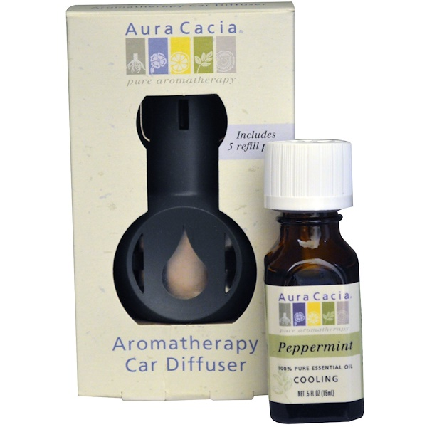Aura Cacia, Aromatherapy Car Diffuser, Commuter Pack, Peppermint (Discontinued Item)