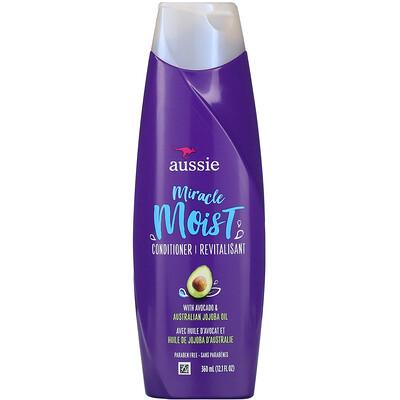 Купить Aussie Miracle Moist, кондиционер для сухих волос с авокадо и австралийским маслом жожоба, 360мл (12, 1жидк. унции)