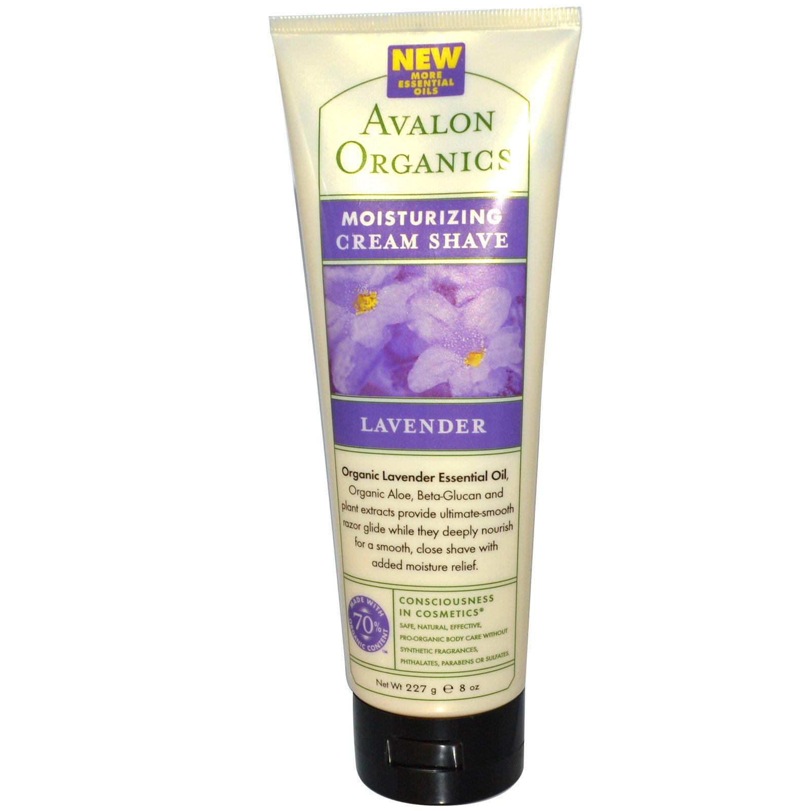 Avalon Organics, Увлажняющий крем для бритья, лаванда, 8 унций (227 г)