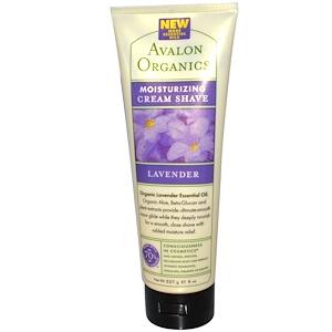 Авалон Органкс, Moisturizing Cream Shave, Lavender, 8 oz (227 g) отзывы