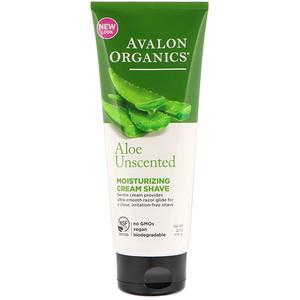 Авалон Органкс, Moisturizing Cream Shave, Aloe Unscented, 8 oz (227 ml) отзывы покупателей