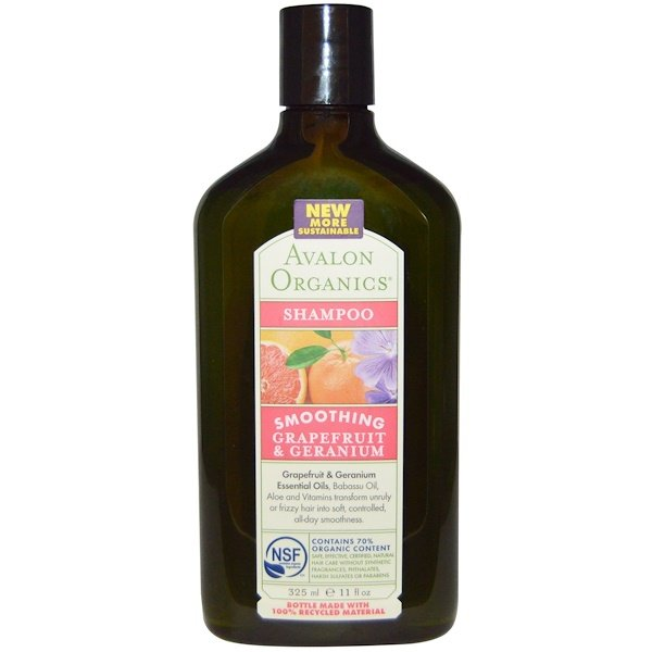 Avalon Organics, Smoothing Shampoo, Grapefruit & Geranium, 11 fl oz (325 ml) (Discontinued Item)
