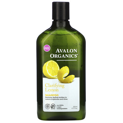 Avalon Organics Очищающий шампунь с ароматом лимона, 325 мл (11 жидких унций)