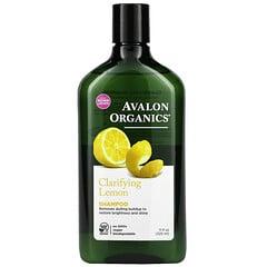 Avalon Organics, 洗髮水,淨化檸檬,11 液量盎司(325 毫升)