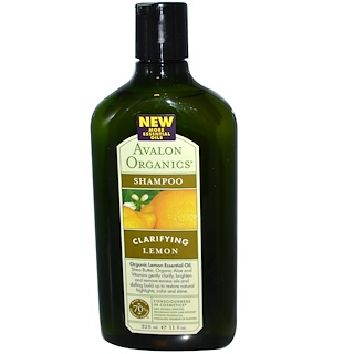 Avalon Organics, Shampoo, Clarifying, Lemon, 11 fl oz (325 ml)