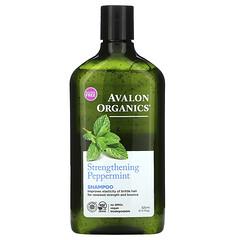 Avalon Organics, 洗髮水,強化,薄荷香,11 液量盎司(325 毫升)