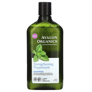 Avalon Organics, شامبو، مقوي، بالنعناع، 11 أونصة سائلة (325 مل)