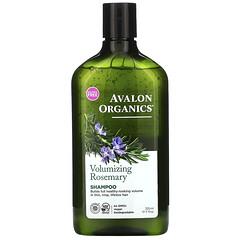 Avalon Organics, 洗髮水,豐盈,迷迭香,11 盎司(325 毫升)