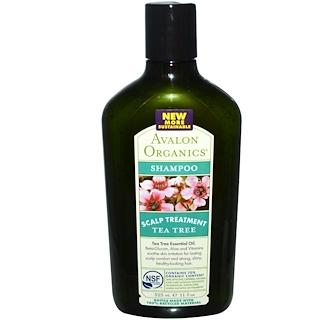 Avalon Organics, シャンプー、頭皮トリートメントティーツリー、11 fl oz (325 ml)