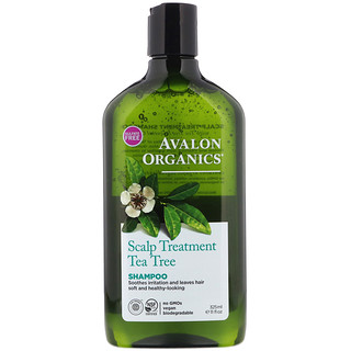Avalon Organics, Shampoo, Scalp Treatment, Tea Tree, 11 fl oz (325 ml)