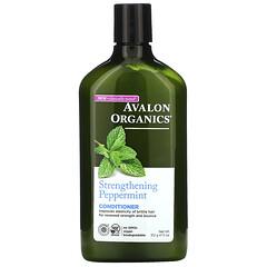 Avalon Organics, 護髮素,強化薄荷,11 液量盎司(312 毫升)