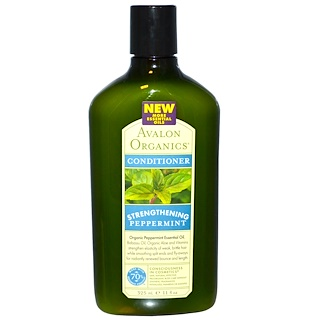 Avalon Organics, Conditioner, Strengthening, Peppermint, 11 fl oz (325 ml)