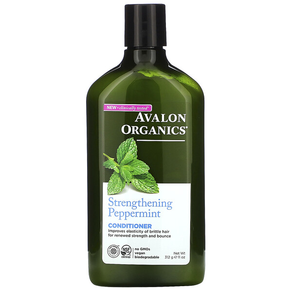 Conditioner, Strengthening Peppermint, 11 fl oz (312 ml)