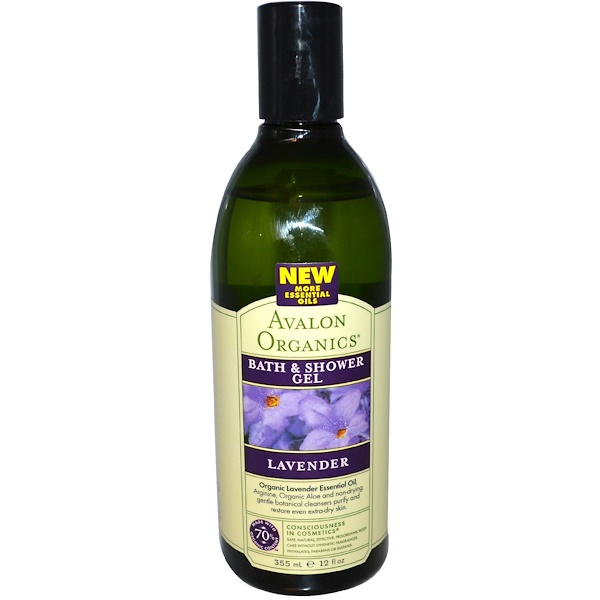 Avalon Organics, Bath & Shower Gel, Lavender, 12 fl oz (355 ml) (Discontinued Item)