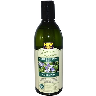Avalon Organics, Bath & Shower Gel, Rosemary, 12 fl oz (355 ml)