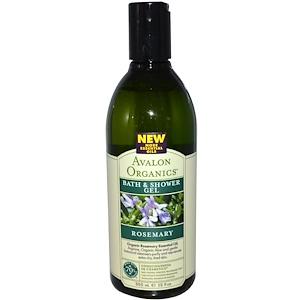 Авалон Органкс, Bath & Shower Gel, Rosemary, 12 fl oz (355 ml) отзывы