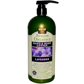 Avalon Organics, Hand & Body Lotion, Lavender, 32 oz (907 g)