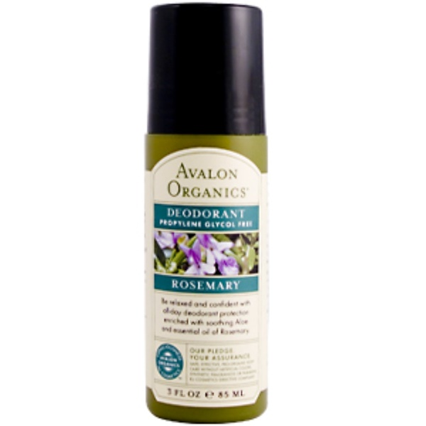 Avalon Organics, Rosemary Deodorant Propylene Glycol Free, 3 fl oz (Discontinued Item)