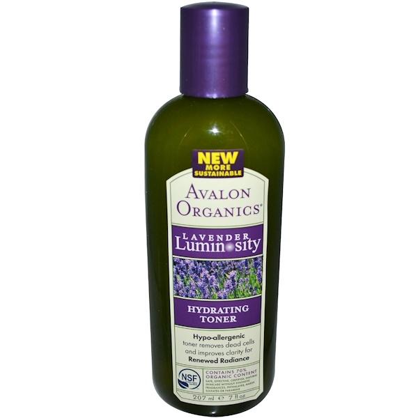 Avalon Organics, Hydrating Toner, Lavender Luminosity, 7 fl oz (207 ml) (Discontinued Item)